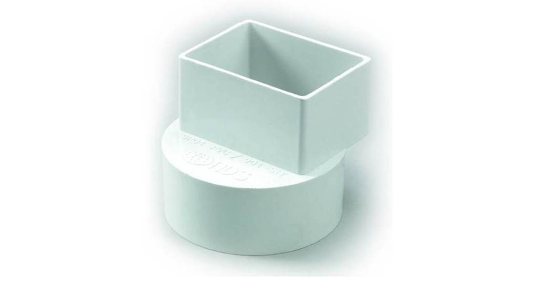 Quot pvc offset downspout adapter sewer and drain